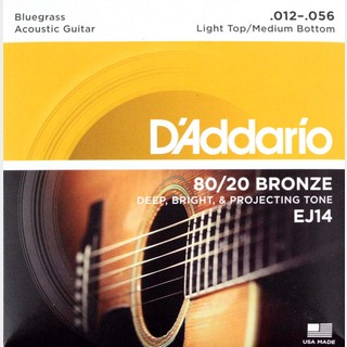 D'AddarioEJ14 Bronze Bluegrass L.Top/M.Bottom アコースティックギター弦