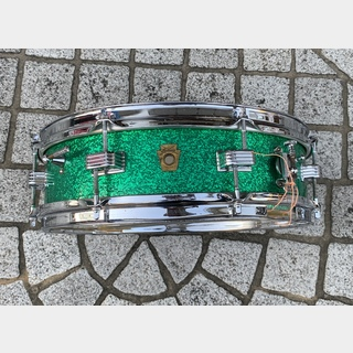 "Ludwig Early 60's Downbeat 14""×4"" Green Sparkle"