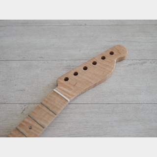 Custom Parts 1-Piece Flame Maple Telecaster Neck Natural