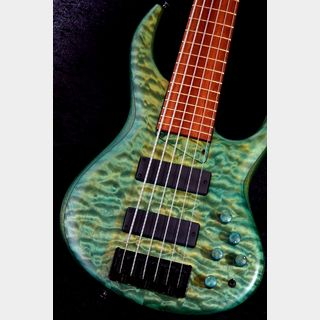 "MTD 635-24 ""Bloodwood Neck"" Quilted Maple/Mahogany,Bloodwood -Teal Green Satin-【NEW】"