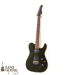 G&LTribute ASAT Deluxe Carved Top Trans Black