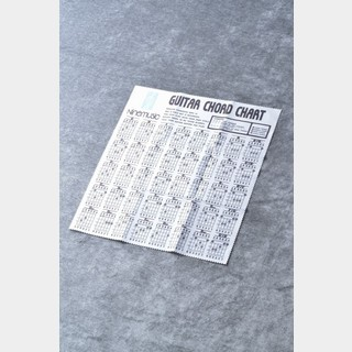 Nine music CL201 WHT(ホワイト) -Microfiber Guitar Clothes/Guitar Chord Chart- 《マイクロファイバークロス》