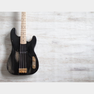 WARMOTH Swamp Ash 51 Precision Bass Worn Black w/Bare Knuckle