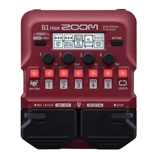ZOOMB1 FOUR Bass Multi-Effects Processor