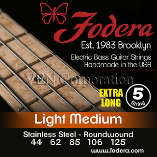 Fodera5 Strings -44125Stainless Steel - Light Medium Extra Long