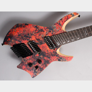 Ormsby Guitars GOLIATH Headless GTR 7 Multiscale 7 Red Copper