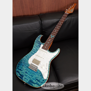"Suhr(正規輸入品) Standard ""Custom Turquoise Inlay & Color"", Quilt Maple Top/Roasted Alder Back & Neck"