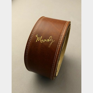 "moody MOODY STRAPS Leather&Leather2.5"" Standard -Light Brown/Cream-"