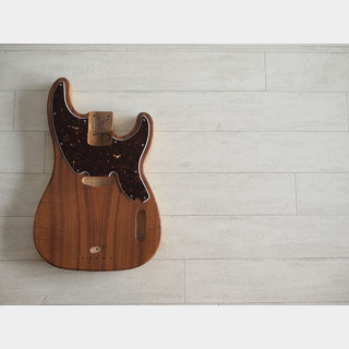 WARMOTH 51 Precision Bass Body - Koa Top - Vinatge Natural
