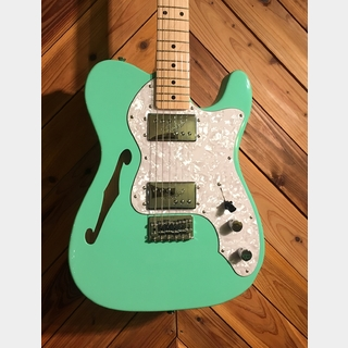 Fender Made in JAPAN Traditional 70s Telecaster Thinline Surf Green