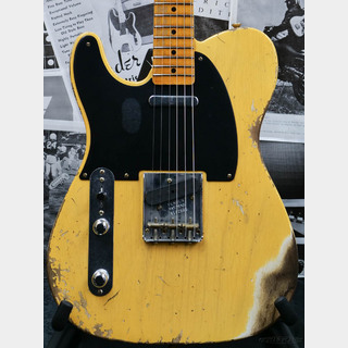 Fender Custom Shop Guitar Planet Exclusive 1952 Telecaster Heavy Relic Left Handed -Aged Nocaster Blonde-