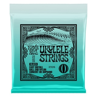 ERNIE BALL2326 Ukulele Strings Ball End Nylon /Black
