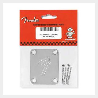 Fender NECK PLATE F Chrome AND BOLTS 0991448100