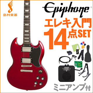 Epiphone Limited Edition 1961 G-400 PRO Candy Apple Red 初心者14点セット 【ミニアンプ付き】