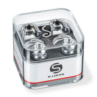 Schaller Strap Lock System S-Locks #14010301/Satin-Chrome
