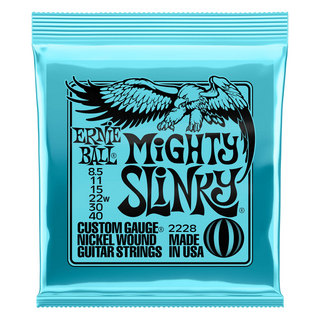 ERNIE BALL 2228 Mighty Slinky Nickel Wound Electric Guitar Strings 085-40 Gauge エレキギター弦 ×3セット