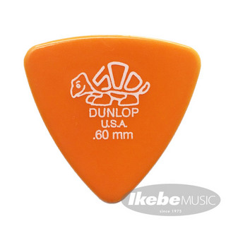Jim Dunlop411B Derlin Triangle Pick ×10枚セット (0.60mm/オレンジ)