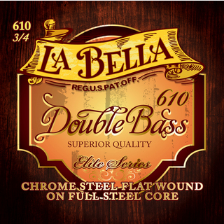 "La Bella 610 ""Chrome Steel Core""[Double Bass Set]"