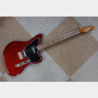 Fender Limited Mahogany Offset Telecaster P90 / Crimson Red Trans
