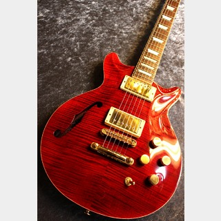 Kz Guitar Works Kz One Semi-Hollow F-Hole Carve Top 2H T.O.M Cherry/Gold HW #20190123【良音ハカランダ】