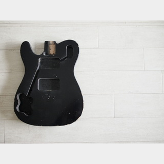 "MJTTelecaster Deluxe Body ""Lefty"" - Swamp Ash - Black - Medium Relic"
