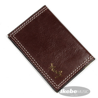 moody Leather Wallet [Chocolate Brown/Cream]