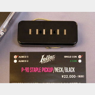 LOLLAR PICKUPS P-90 STAPLE PICKUP / NECK / BLACK