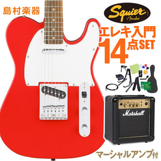 Squier by Fender Affinity Series Telecaster Race Red エレキギター 初心者14点セット マーシャルアンプ付