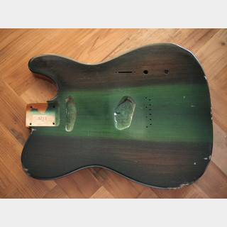 MJT Telecaster Body - Wenge Top/Premium 1P Swamp Ash - Jade Green - Medium Relic