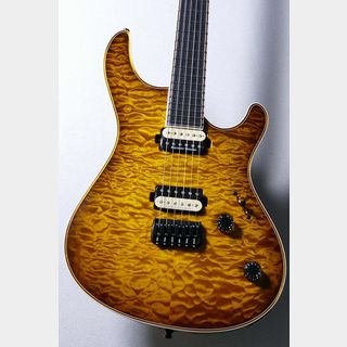 "MAYONES Custom Shop  Regius QM 6 ""Trans Dirty 2 Tone Amber Burst Gloss"""