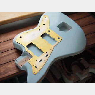 MJT Jazzmaster Body - Alder - Sonic Blue - Medium Relic