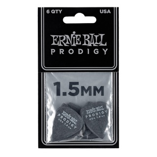 ERNIE BALL ERNIE BALL Prodigy Picks #9199 Black Standard 1.50mm 6枚入り
