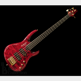 "Knooren KN4 Fretless ""Flamed Japanese Tochi Top"" (T-Red)"