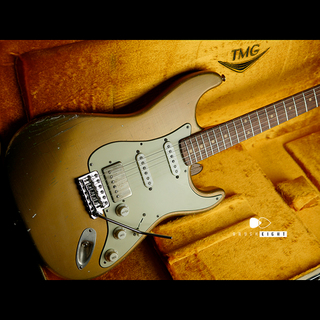 "TMG Guitar 【TMG日本正規代理店】TMG Guitar Co. Dover HSS ""Aged Gold""   Medium Aged & Hard Checking"