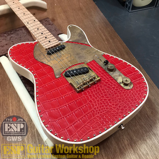 Paoletti Guitars NANCY Wine Red Leather Top SS