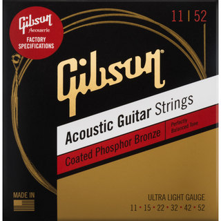 Gibson SAG-CPB11 Coated Phosphor Bronze 11-52アコギ弦【横浜店】