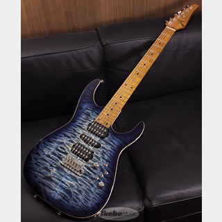 TOM ANDERSON(正規輸入品) Angel Quilt Maple Top on Basswood Body, Caramel Maple Neck, Natural Arctic Blue Burst with Binding