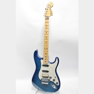 Fender Custom Shop Custom Stratocaster Quilted Maple Top N.O.S. (USED) / Cobalt Blue Transparent