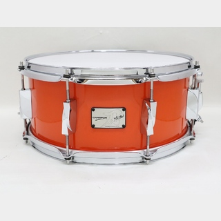 canopus USED CANOPUS YAIBA2 Birch 14x6.5 Snare Drum Sunny Orange LQ