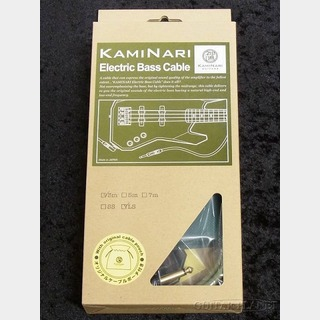 KAMINARI Electric Bass Cable K-BCBK3LS 鶯 -UGUISU-【3m-L/S】【ベース用シールド】【Made in JAPAN】
