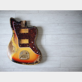 MJT Jazzmaster Body - 3-Color Sunburst - Heavy Relic