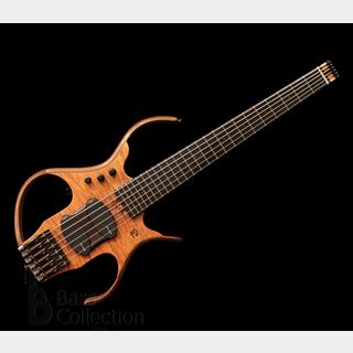 Paul Lairat Stega Deluxe 6st Bass Headless (Curly Koa Top) '17 【USED】