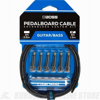 BOSS  BCK-6 Pedalboard cable kit, 6connectors, 1.8m