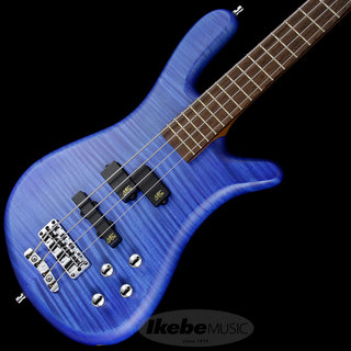 "Warwick German Team Built Streamer LX 4st ""Flame Maple Top"" (Ocean Blue Transparent Satin)"