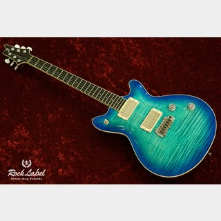 T's Guitars Arc-Standard w/Buzz Feiten Tuning System - Centura Blue Selected 4A Flame Maple Top
